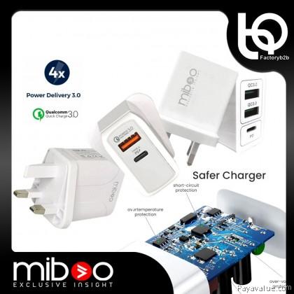 6M-Warranty[B2B] Miboo USB-C 30 Watt 15Watt Power Adapter Murah Charger Fast Charging PD MFI Lightning Type-C Safety