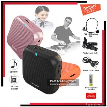 Hot-Selling Rolton K400 Super Light Weight Voice Amplifier Mic Mini Speaker Pembesar Suara Mikrofon Ringan
