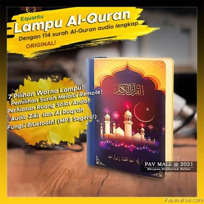 Baharu!  Buku Lampu LED Al-Quran Quran Speaker Audio Decoration Lampu Malam MP3 Bluetooth 30 Juzuk Zikir Ruqyah