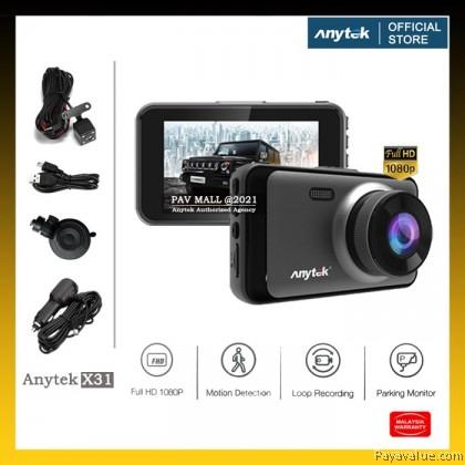 "Original  Anytek X31 Dash Cam 3"" Screen Car DVR Parking Monitoring Front & Rear Dual Camera"