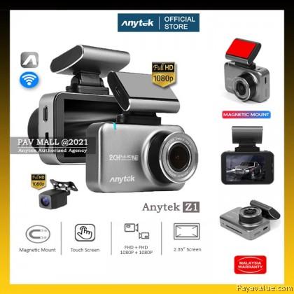"New  Original Anytek Z1 2.35"" IPS Touch Screen WIFI Dual 1080P Premium Car Dash Cam WDR Anzone App"