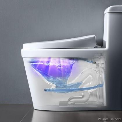 UVC Intelligent Ultraviolet Sterilization Deodorizer Waterproof Toilet Sterilizer UV Germicidal Lamp USB Rechargeable